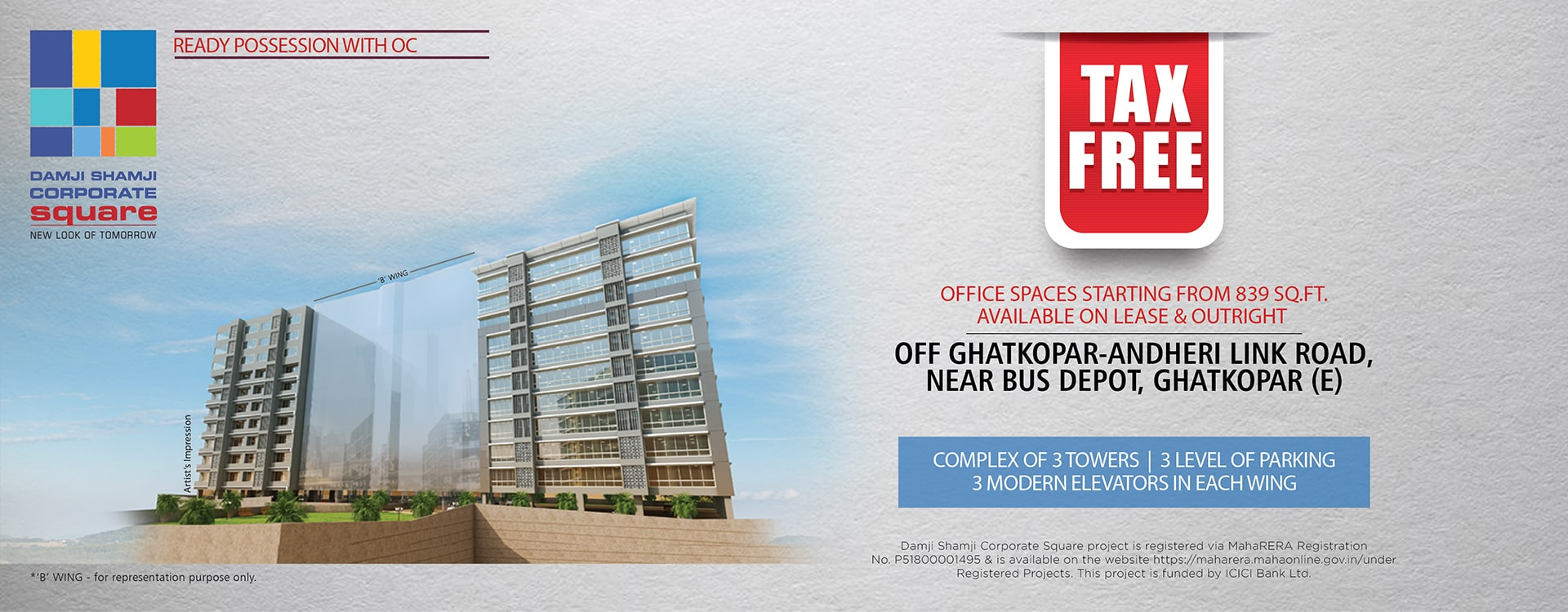Office Spaces & Commercial Properties in Damji Shamji Corporate Square - Ghatkopar
